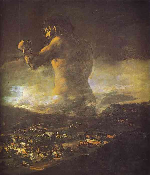 24x36 Francisco de Goya Art Poster Print The Colossus